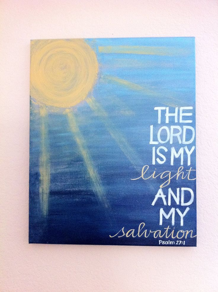 The Lord is My Light and My Salvation - Christian Art - Bible Verse Art - Ready to Ship -  ORIGINAL16x20x3/4 Painting