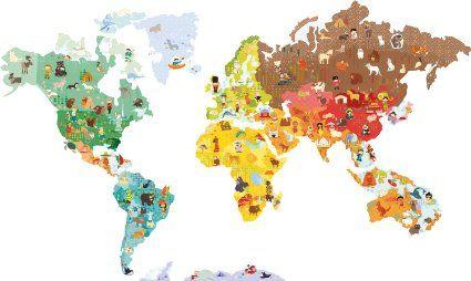 Janod Magneti'Stick Wall Décor World Map