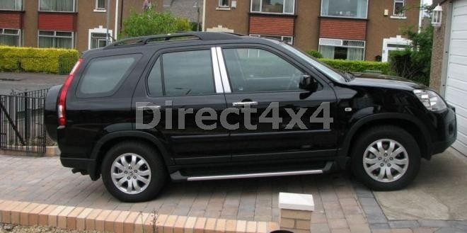 honda crv 2002 2006 black roof rails roof rails 4x4 accessories direct4x4 cr v. Black Bedroom Furniture Sets. Home Design Ideas