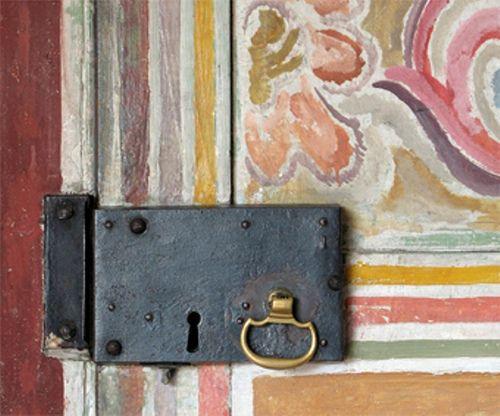 Duncan Grant Bedroom door (Detail)- Painted by Vanessa Bell in 1918