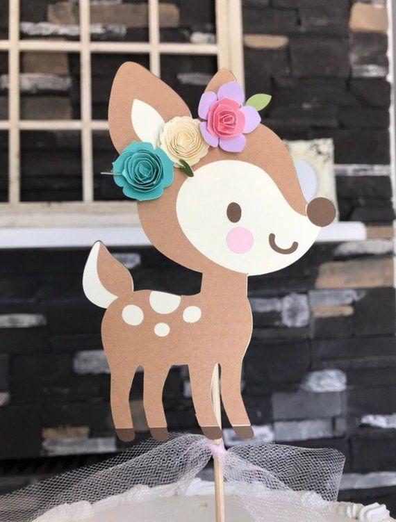 026214938fa11 Deer cake topper , out little deer , oh deer , baby shower , firrest ...