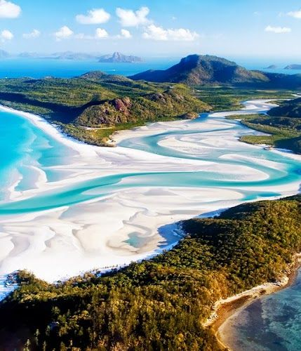 Whitsunday Beach, Australia <---- this brings back VERY happy memories of standing on this exact spot and just thinking WOW. sigh.....