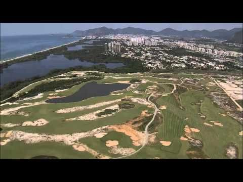 Jan 2016: Latest Rio Olympic Golf Course pictures. Aerial view of Olympic Golf Course.