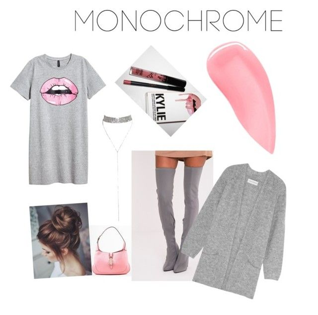 """""""🍬"""" by queen-vic ❤ liked on Polyvore featuring Gucci, By Malene Birger, Kevyn Aucoin and Kylie Cosmetics"""