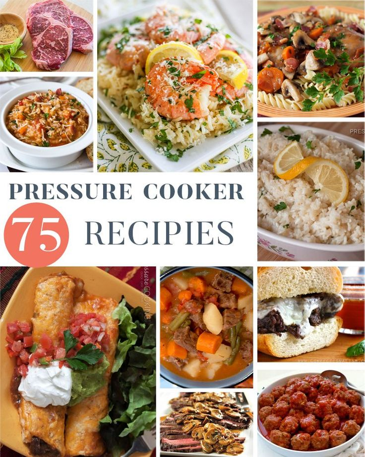75 (and growing) Pressure Cooker Recipes. Pressure Cooking is an awesome way to get a great dinner on the table, quickly! These recipes look delicious!!