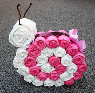 Snail Diaper Cake ....Perfect for a baby shower gift!!
