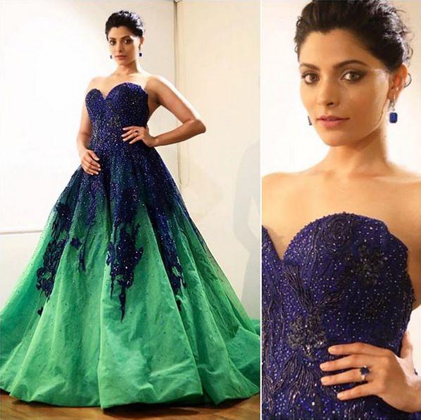 Bollywood Celebrity Saiyami Kher Wearing A Beautiful Gown