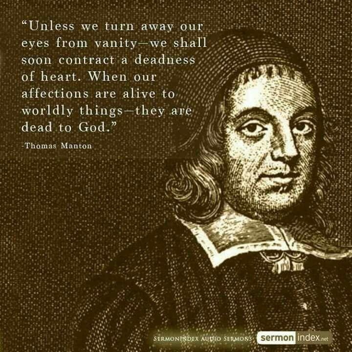 christian quotes | Thomas Manton quotes | vanity | worldliness