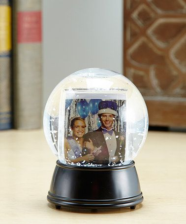Loving this Black Create-Your-Own Light-Up Photo Snow Globe on #zulily…