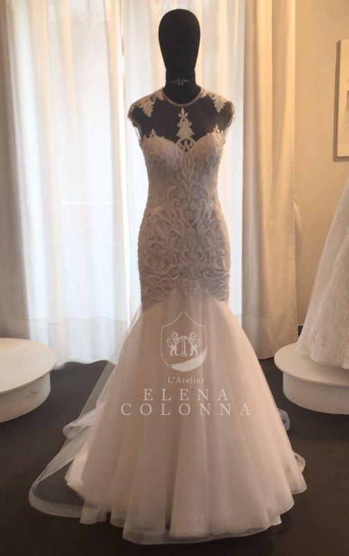 Moda sposa 2016. Un abito da sposa modello sirena sofisticato e raffinato by L'Atelier Elena Colonna