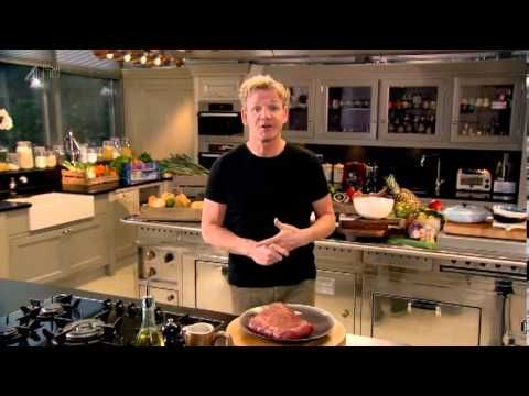 Gordon Ramsay's Home Cooking S01E11- American Home cooking - Hash brown baked eggs with candied bacon pg48, big caesar salad pg108 with griddled chicken with chickpeas piquillo peppers & lemony dressing pg123, peanut butter and jam cookies pg148