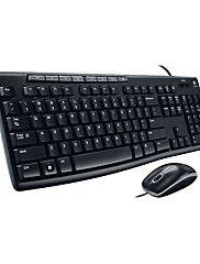 logitech originale ordinateur MK200 combo mis combo souris multimédia clavier d'ordinateur pour PC de bureau quotidien noir