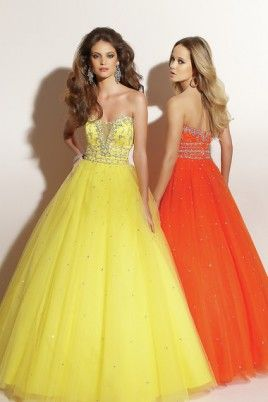Yellow Ball Gown Sweetheart Scoop Floor-length Tulle Plus Size Evening Dress