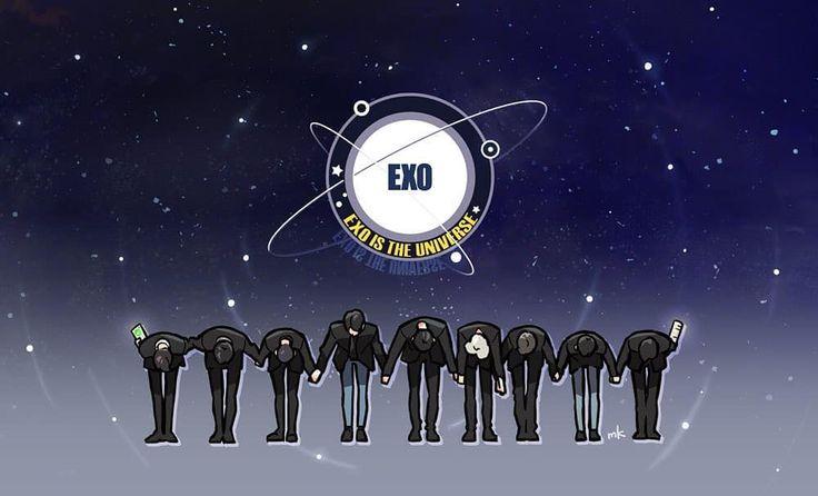 EXO IS THE UNIVERSE #exo #electrickiss #exofanart #fanart #exoistheuniverse Cr.aaasta