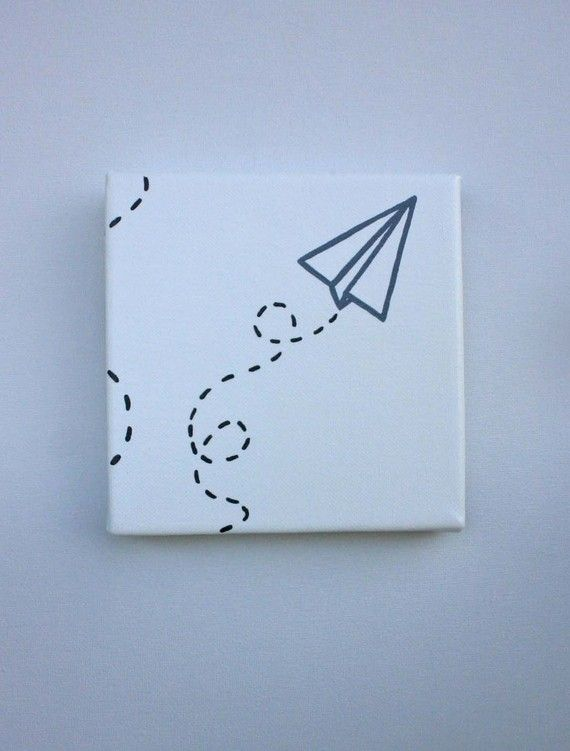 Paper Airplane Canvas - I could make this!