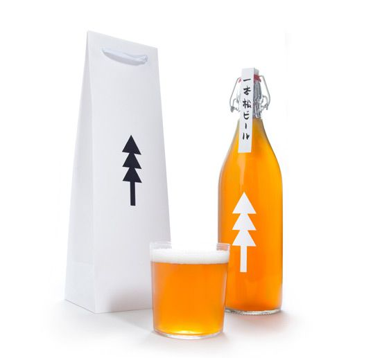 n the city of Rikuzentakata, a single pine tree stands as a testament to survival after the tsunami of 2011. This beer's name means 'One Pine Tree' and its design is a symbol of charity and hope for Japan's brighter future.