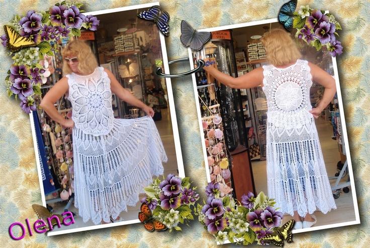 Блуза и юбка крючком-комплект