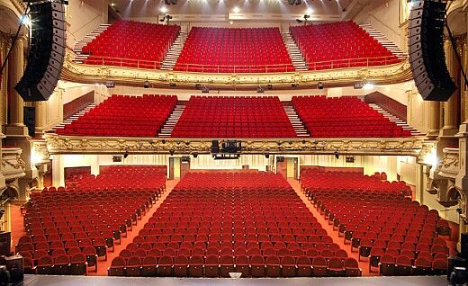 Théâtre Mogador auditorium Housing 1600 seats (Orchestra: 787 seats, Boxes: 432 seats and Balconies: 381 seats together)
