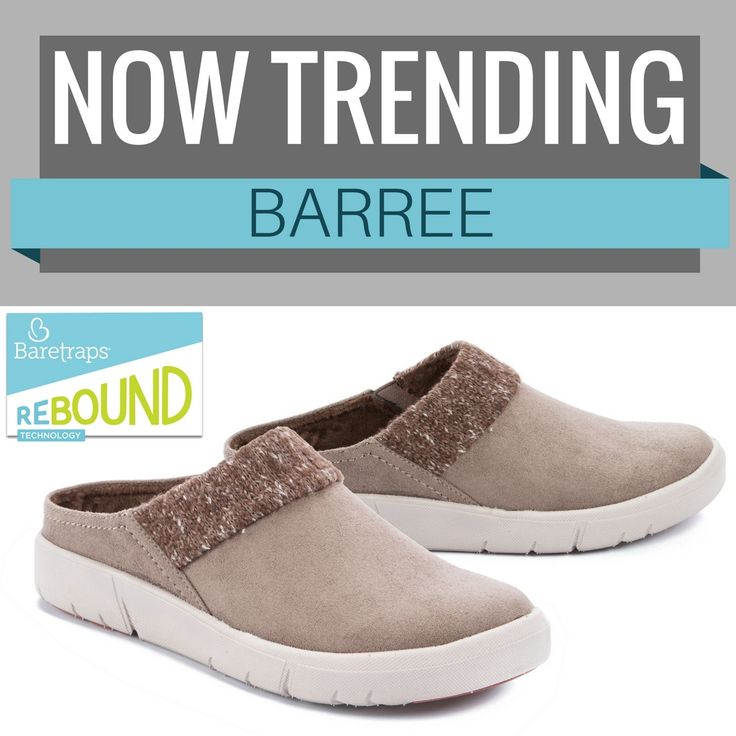 Baretraps Rebound Technology™️ in a closed toe, slip on!! Slide on the Barree with every day looks for a casual feel and a cozy flair!