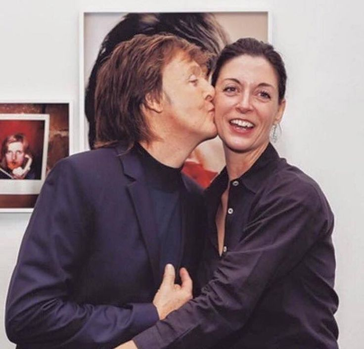 Paul McCartney with his daughter Mary McCartney.