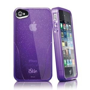 iSkin, Claro Glam iPhone 4s Purple (Catalog Category: Bags/Carry Cases / Cell Phone Cases)