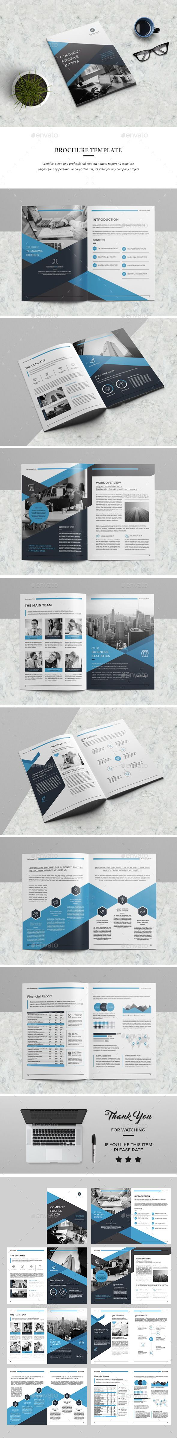 Annual Report Template InDesign INDD - 16 Pages