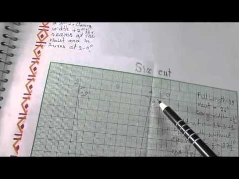Sixcut Petticoat Drafting/Layout/Pattern/Cutting and Stitching part 1