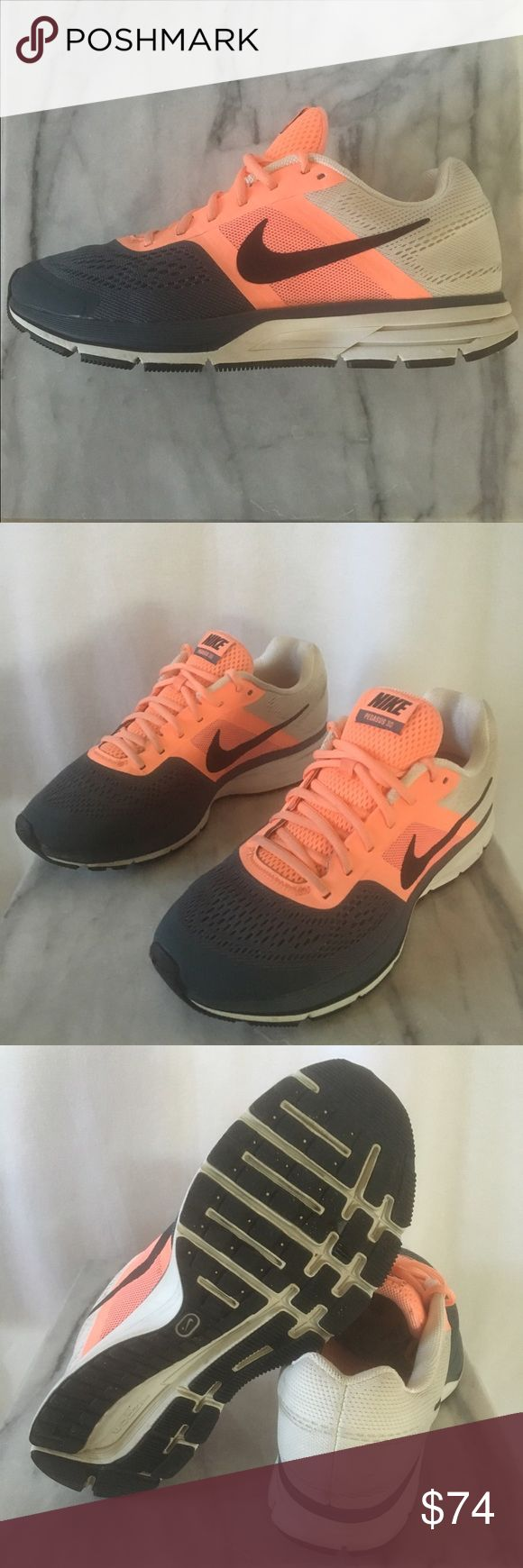 Nike Pegasus 30 Women's Sz 11. Very rare Nike Pegasus 30. Excellent condition. Cream heal, dark grey toe box and a vibrant salmon center. Thanks! Nike Shoes Athletic Shoes