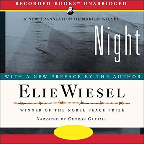 """Another must-listen from my #AudibleApp: """"Night"""" by Elie Wiesel, narrated by George Guidall."""