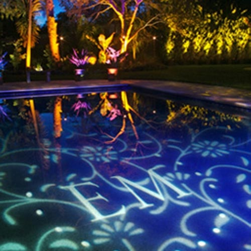 Festive Lighting Design From Innovative Event Solutions Can Turn A Pool  Into Art Showcasing Your Initials