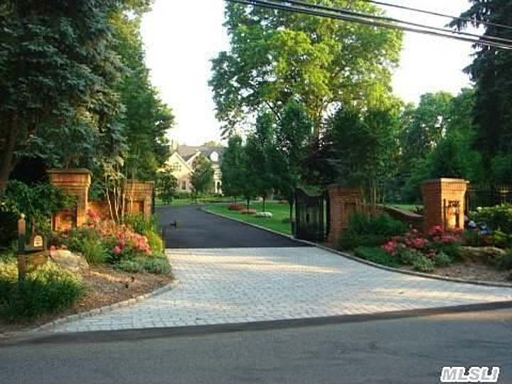 Very pretty entrance/gate.  Hoaglands Ln, Glen Head, NY 11545 | Zillow