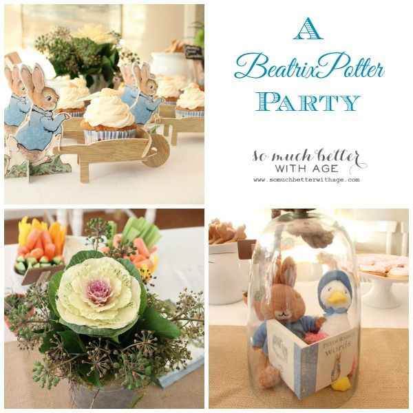 A Beatrix Potter Party | http://www.somuchbetterwithage.com/2014/02/beatrix-potter-party/