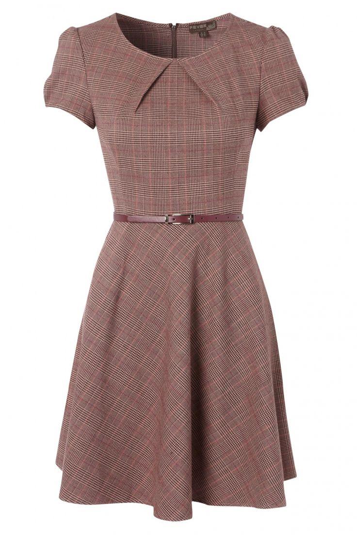 Fever - 50s Erika Dress in Tartan Pink. Gave nieuwe jurk v/d najaarscollectie #topvintage