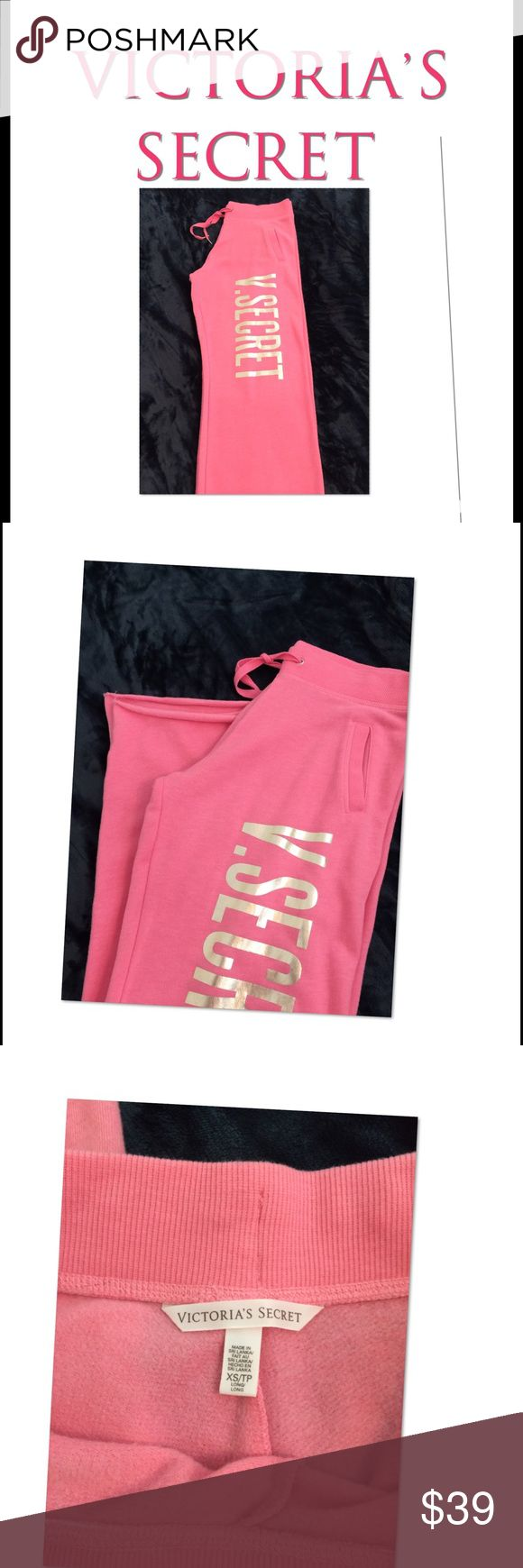 New Vitoria Secret Boyfriend Sweats New never worn Victoria Secret boyfriend sweats.  These are straight leg pocket front.         Color: pinky melon   Size: xs                              Length is original     New never worn victoria secret  Pants Straight Leg