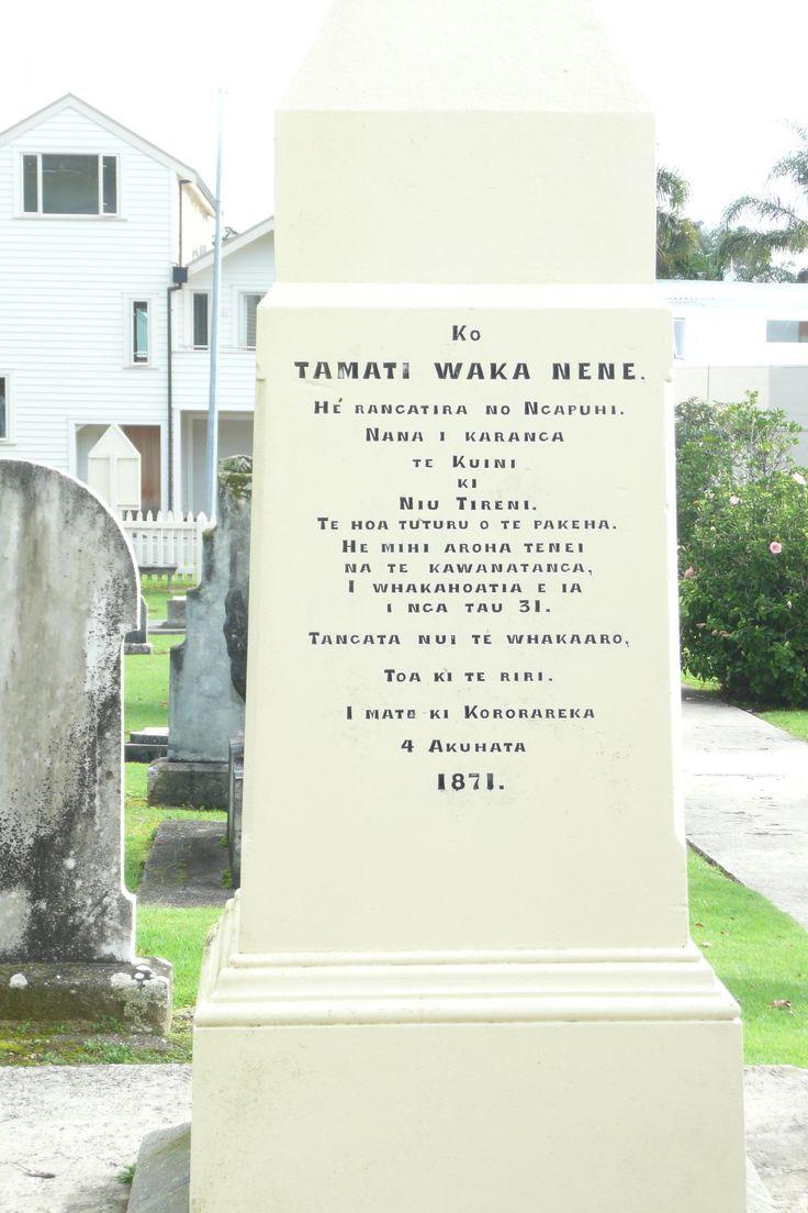 Tamati Waka Nene - Lindauer Online - Russell (cemetary) Bay of Islands New Zealand