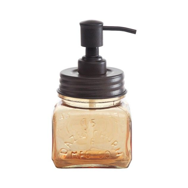 With its embossed amber glass, the Apothecary Soap Pump is a unique addition to any bath. Compact enough to place next to the faucet pulls of any console or pedestal sink, this soap dispenser is just the finishing touch that you need for your vintage bath.