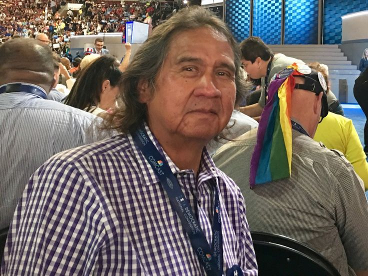 Frank LaMere, who crusaded against alcohol sales in Whiteclay, Nebraska, for more than two decades, broke down into tears.