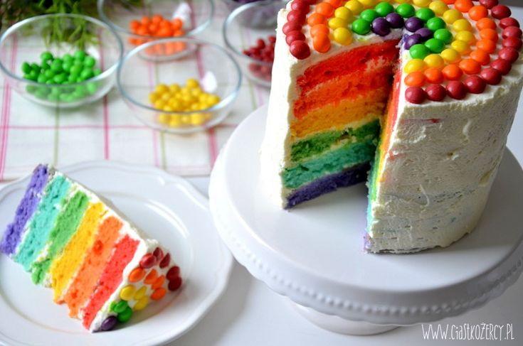 Tęczowy tort / Rainbow cake