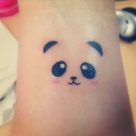 Panda tattoo. The amount of cuteness is strong with this one.