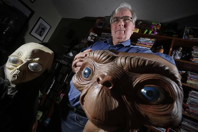 Chris Rutkowski, Canada's foremost UFO expert, whose day job is at the University of Manitoba is photographed in his Winnipeg home, Saturday, October 29, 2016. (Photo via John Woods / The Canadian Press / File)