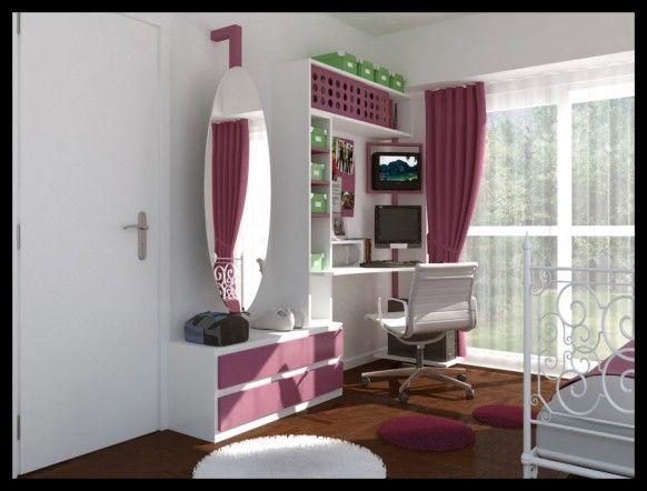awesome teenage room design ideas image 07 white grey chic fashionable teen bedroom by architecture digital