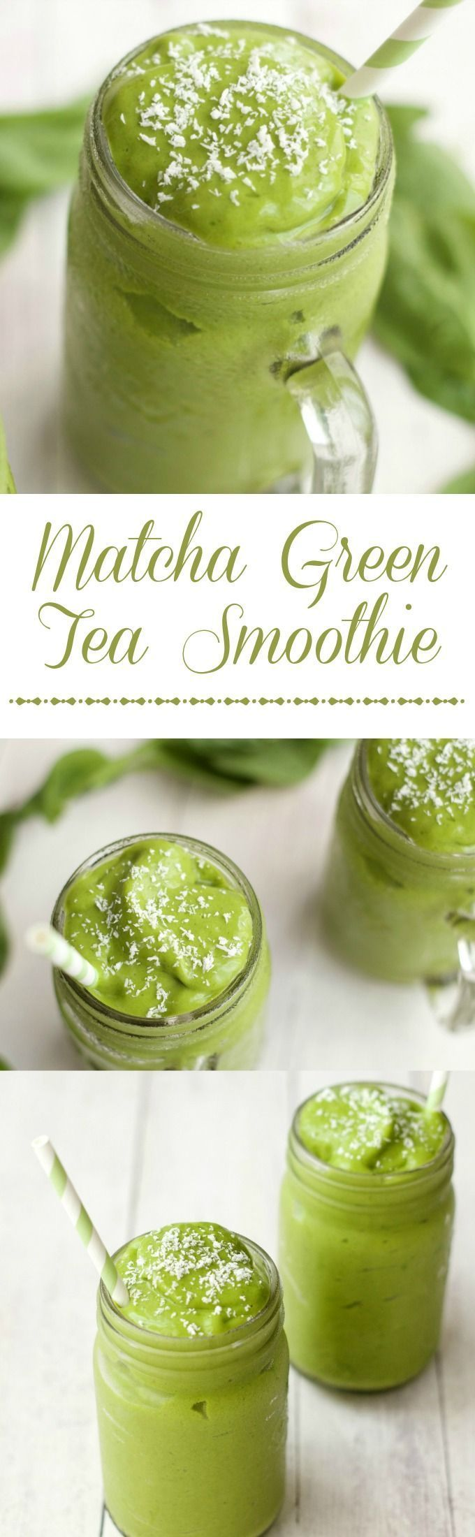 Matcha Green Tea Smoothie, quick and easy 5-Ingredient recipe.   Find more stuff: http://www.victoriasbestmatchatea.com