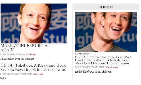 Mark Zuckerberg is giving the commencement address at Harvard on Thursday after famously dropping out 12 years ago to create Facebook.  And in an ironic turn of events, Harvard's student newspaper, The Harvard Crimson, was hacked on the same day to http://aspost.com/post/A-poetic-prank-Harvards-student-newspaper-was-hacked-to-make-fun-of-commencement-speaker-Mark-Zuckerberg--FB-/30497 #tech #technology…