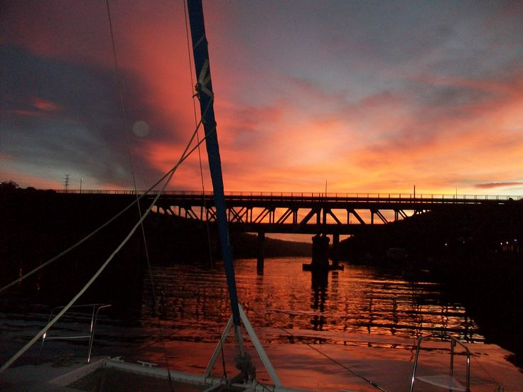 Sunset on the Buffalo River in East London