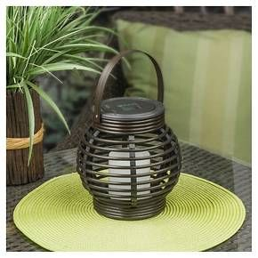 Get all the charm of a rustic looking lantern with the modern convenience of solar power in the Threshold Rattan Solar Lantern (Large). The solar power makes it safer than traditional lanterns while maintaining the look of an actual lit candle. Safety, charm, and quality make this eco-friendly solar lantern a great addition to your decor.