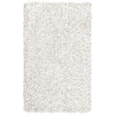 Rug Studio Pearly White Shag Area Rug Rug Size: 5' x 7'6""