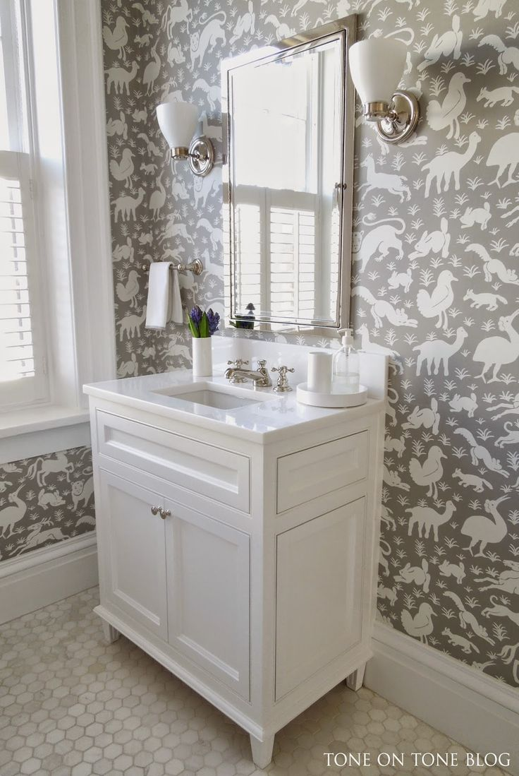 Best Wallpapered Bathroom Images Onbathroom Ideas