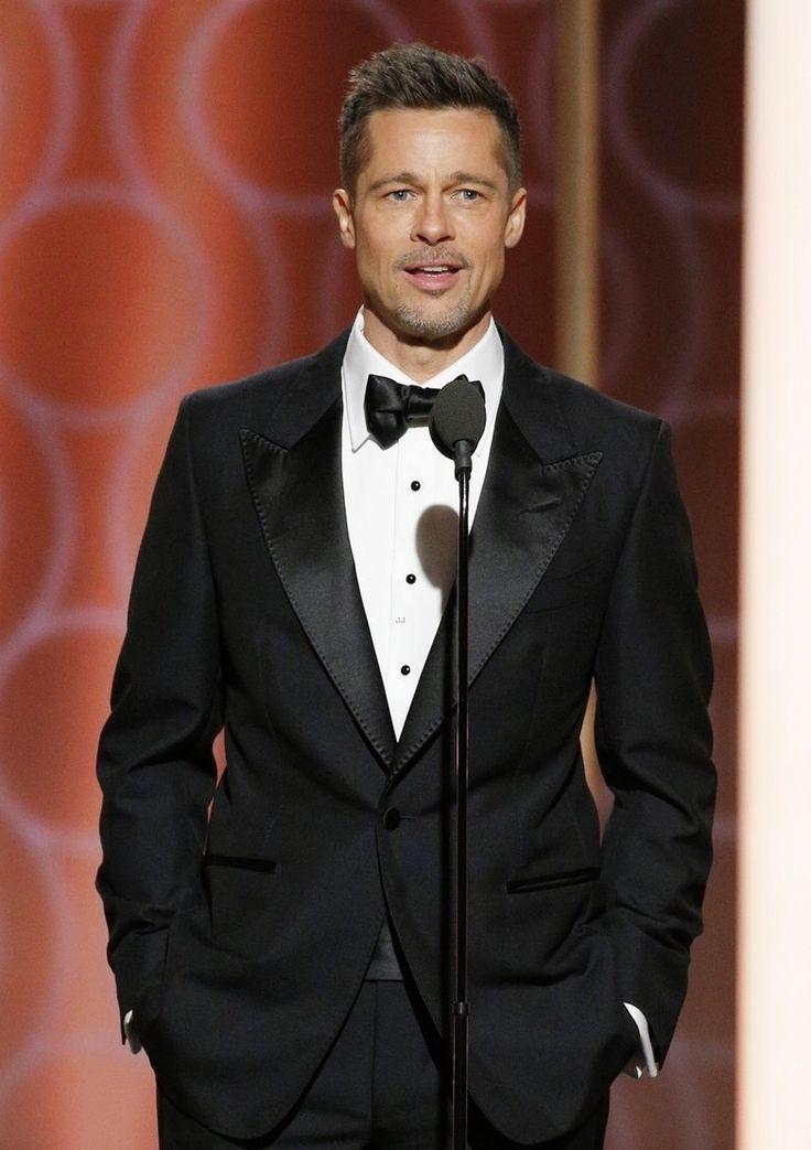 Brad Pitt at Golden Globes 2017 <3