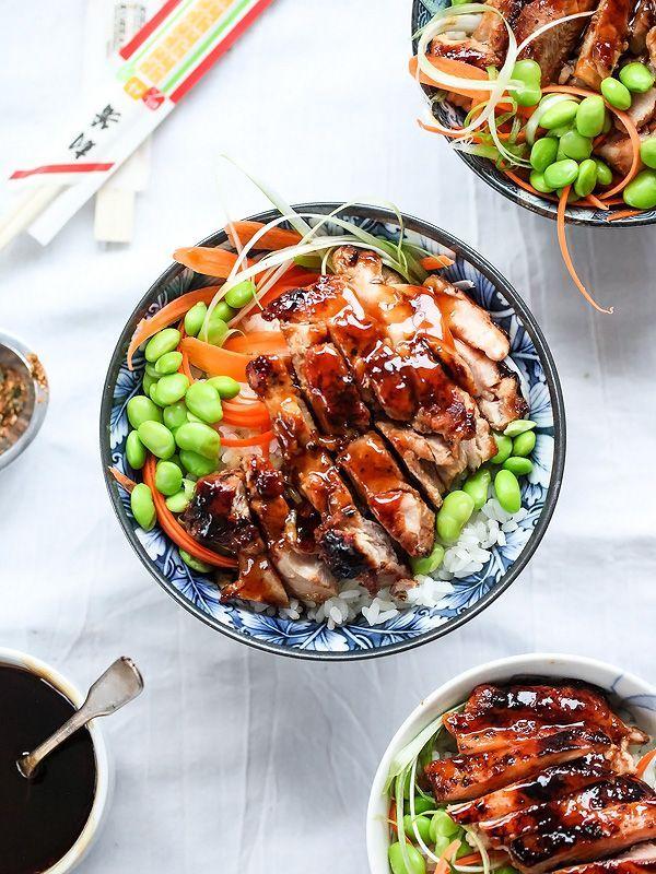 7 Spice Teriyaki Chicken Rice Bowls | foodiecrush.com