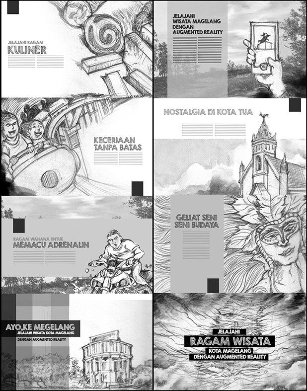 layout brosur Augmented reality Pariwisata Kota Magelang